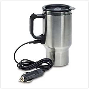 Heated Stainless Steel Mug Car Coffee Cup With Charger
