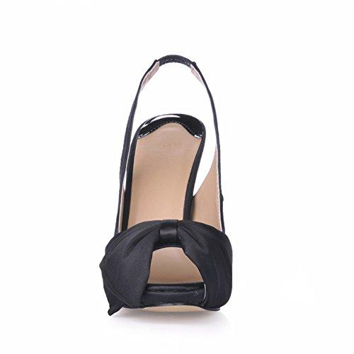 chaussures annuelle après femme astuce femmes de d'été produits talon fleur chaussures grandes haute vide poisson Black l'assemblée de nouveaux Sandales WIqPvYY