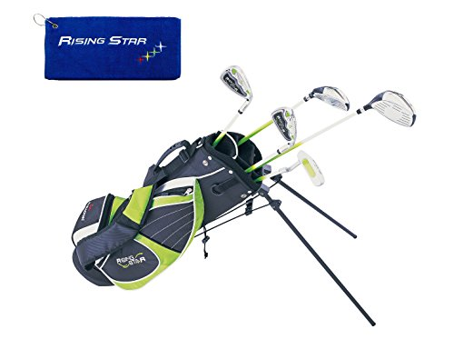 Paragon Rising Star Kids Golf Clubs Set / Ages 8-10 Green With Free Gift / - Green Golf Kids Club