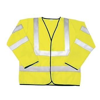 SAS Safety 690-1309 ANSI Class-3 Safety Jacket, Yellow, Large