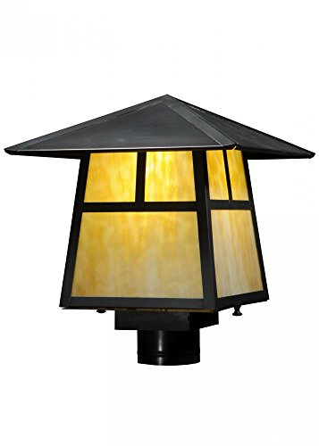 - Meyda Tiffany 138052 Stillwater T Mission Post Mount Light Fixture, 11.75 sq. in.