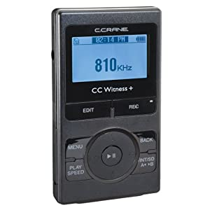 C. Crane CWTPL CC Witness Plus Digital MP3 Recorder Player with Built-in AM FM Radio