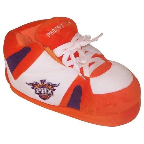 Happy Feet and Comfy Feet Mens and Womens OFFICIALLY LICENSED NBA Sneaker Slippers Phoenix Suns y0JqFx6