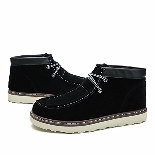 Men's Martin Boots Mid Top Leather Ankle Hign Sneakers Fashi