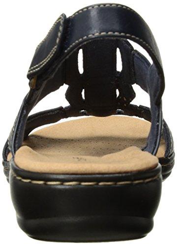 Clarks Women's Leisa Vine Platform, Brown, US Navy Leather