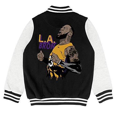 FPFLY Kids Girls Boys 23 LABron Player Printed Cotton Sweatshirt Button Baseball Uniform 2-10 Years