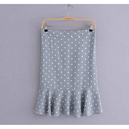 bluee Women's KneeLength a line Skirts  Polka dot