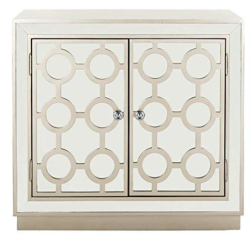 Safavieh CHS6404A Home Collection Kaia 2-Door Chest, Champagne/Mirror