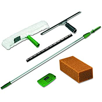 Amazon Com Unger Pwk00 Pro Window Cleaning Kit W 8ft Pole