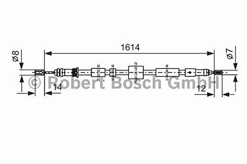 Bosch 1987477432 C/âble de frein