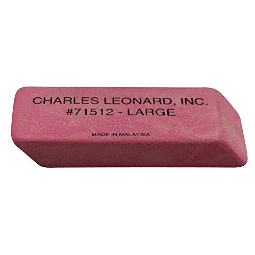 Charles Leonard CHL71512BN Economy Wedge Eraser44; Pink - Large - Pack of 4 by Charles Leonard Inc