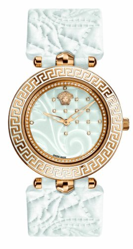 Versace Women's VK7090013 Vanitas Analog Display Swiss Quartz White Watch