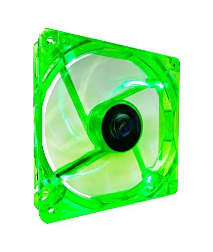 APEVIA CF12SL-UGN 120mm 4pin Molex + 3pin Motherboard Silent Green LED Case Fan ()