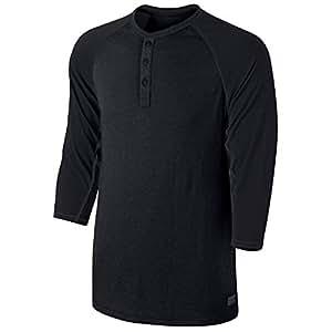 Nike Mens SB Dri-FIT 3/4-Sleeve Henley #639907-010 (M)