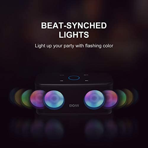 Bluetooth Speakers, DOSS SoundBox Plus Portable Wireless Bluetooth Speaker with 16W HD Sound and Deep Bass, Wireless Stereo Pairing, 20H Playtime, Wireless Speaker for Home, Outdoor, Travel – Black 41sdpLJeuhL