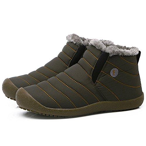 Donna Stivali Caldi SITAILE Alti Stivoletti e all'aperto Uomo Stivali di Imbottiti Grigio Inverno Boots Caldi pawfTUpqn
