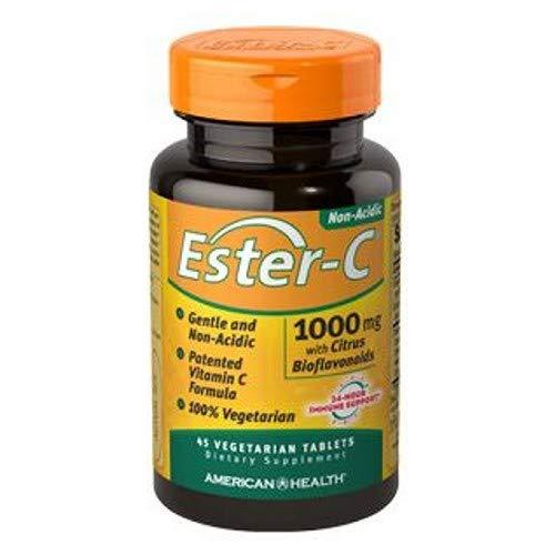 (4 Pack of American Health Ester-C with Citrus Bioflavonoids - 1000 Milligram - Gentle and Non Acidic - 45 Vegetarian Tablets)
