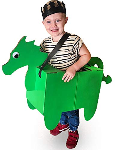 Donny The Dragon Cardboard Costume - Fun Family DIY Art Project for Boys | Kids Pretend Play Toy - Kid Size Ages 3 and up ()