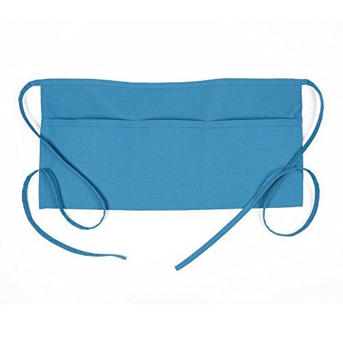 Teaching Apron - Fame Adult's 3 Pocket Waist Apron -Turquoise-O/S