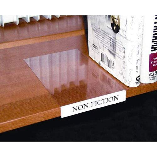 Moveable Shelf Label Holder, Clear, 10/Pk, Lot of -