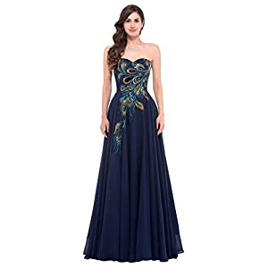 GRACE KARIN Strapless Ball Gown Evening Prom Party Dress CL675
