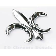 Car Chrome Decals CNPL-FLEUR Fleur De Lis, car auto bike 3D chrome Emblem decal sticker Quebec France