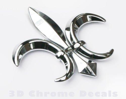 car auto bike 3D chrome Emblem decal sticker Quebec France CNPL-FLEUR Car Chrome Decals Fleur De Lis