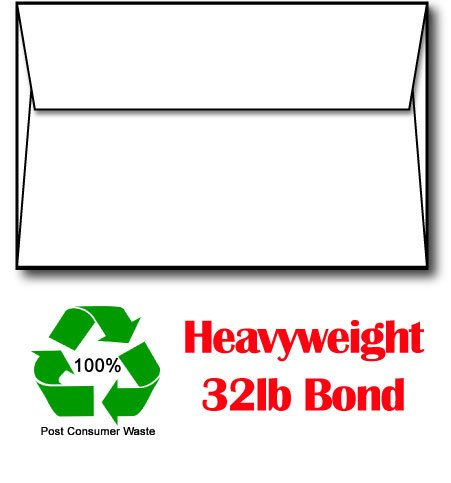 A7 White 32lb Bond 100% Recycled Envelopes - 250 (Recycled Desktop)