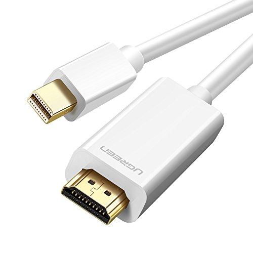 Ugreen Cable mini DP a HDMI 2M, Thunderbolt Port Compatible, 1080P, Adaptador Displayport a HDMI para MacBook, MacBook Pro,...