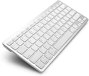 لوحة مفاتيح تعمل بالبلوتوث - لون ابيض