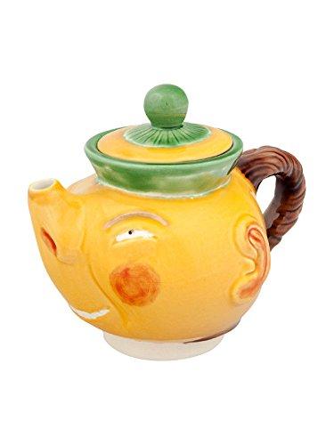 Bordallo Pinheiro - Chinese Tea Pot (Ref # 65007199) Earthenware TeaPot - -