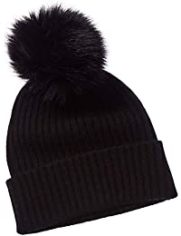 Womens Sofiacashmere Cashmere Knit Hat, Black