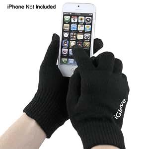 Apollo23 pantalla táctil de invierno guantes para correos en Smartphones (iPhone, HTC, Samsung) negro