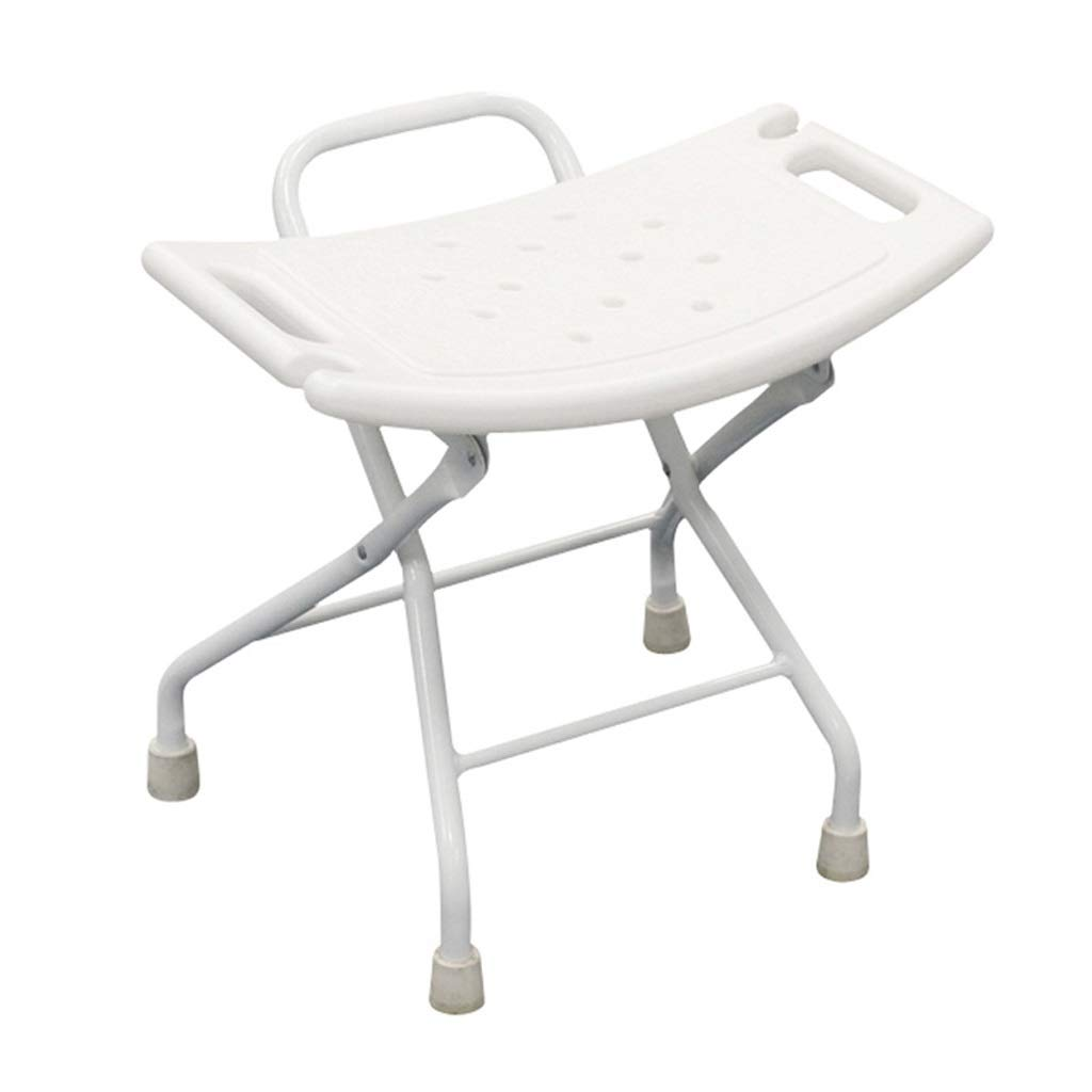 Foldable Aluminum Alloy Bathroom Shower Seats Stool Shower Chair Safety Bathing Chair, Bearing Weight 90kg