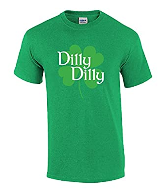 Trenz Shirt Company ST. Patricks Day Dilly Dilly Clover Funny Beer Drinking Holiday T-Shirt