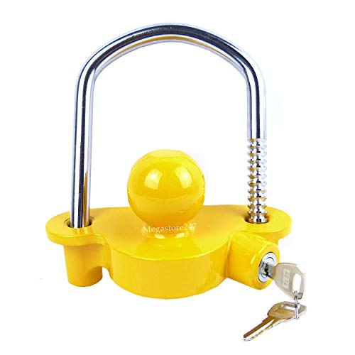 Hyfive Trailer Hitch Lock Universal Tow Ball Trailer Lock Security Kit For Trailer and Caravan Tow Coupling Hitch