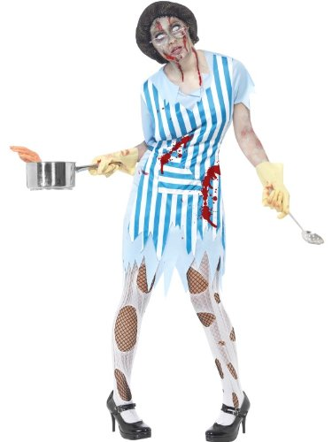 [High School Horror Zombie Lunch Lady Costume Adult Large] (High School Zombie Costumes)