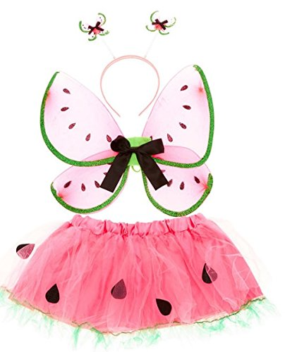 Claires Kids 3 Piece Watermelon Dress Up Costume (Watermelon Wings)