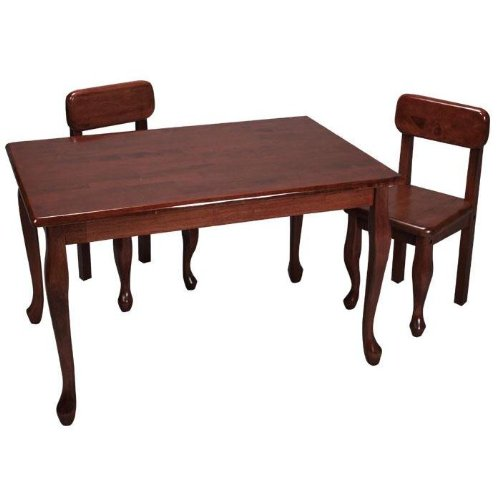 Gift Mark Queen Anne Rectangle Table and Chair Set - Cherry