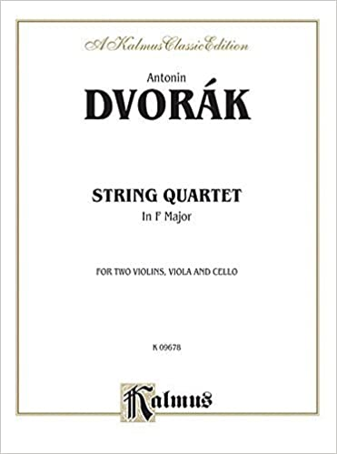Quartet in F Minor, Op. 9 (Kalmus Edition) by Dvor?k, Antonin (1985)