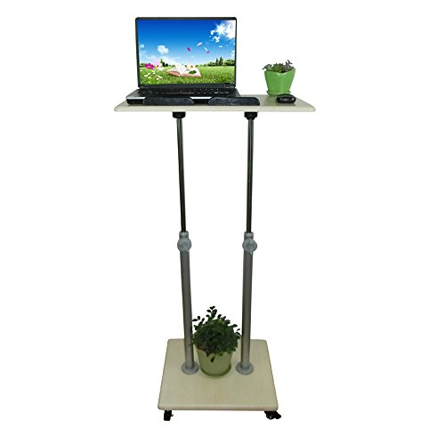 Price comparison product image MS Tables Stand-up Computer Desk Mobile Adjustable Height Reading Desk Protection of Cervical Desk Health Station Sit Watch Writing Office Internet Laptop Desk Optional Size @