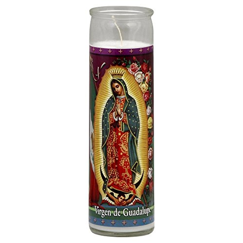 Virgen de Guadalupe White 2 Pack Set Religious Candles