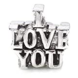 TOC BEADZ I Love You 13mm Funky Slide-on Bead