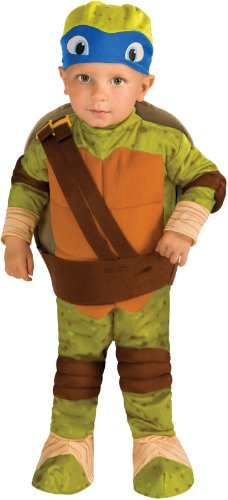Rubie's Costume Teenage Mutant Ninja Turtles, Leonardo Romper, Shell and Headpiece, Green, (Baby Leonardo Costumes)