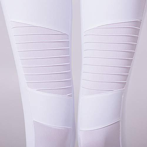 En Fitness Mesh Splice Coast Sportwear L Leggings Blanc Sportif Yoga Pleat Vazan Slim Avec De Pour Pantalon Plis wqv78H0fx