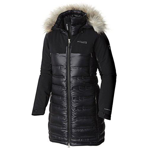 Columbia Women's Heatzone 1000 TurboDown Long Hooded Parka Jacket, Black, L