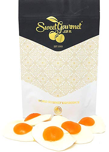 Giant Fried Eggs Gummi Candy | Bulk Gummy | Peach Flavor | 1 pound]()