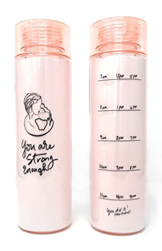 Leboha 32 oz Wide Mouth Pregnancy and Breastfeeding Water Bottle Tracker, Measure Your Water Intake Easily (BPA Free Non Toxic Tritan), Fits In Cup Holders.