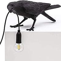 Kreativa lampor italiensk fågel bordslampa modern LED bord lampett ljusarmaturer sovrum sängbord vägglampa kråka fågel…