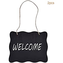 2pcs Black Vintage Style Chalkboard Sign Board
